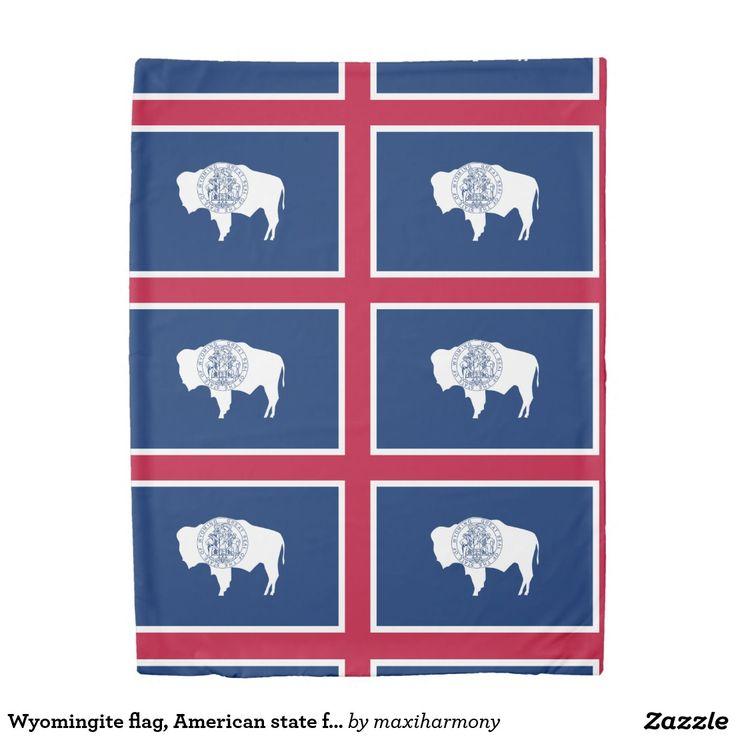 Wyomingite flag, American state flag Duvet Cover