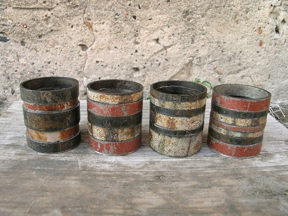Industrial Candle Holder Southwestern Decor Upcycled by PaulaArt, $30.00. Love these!