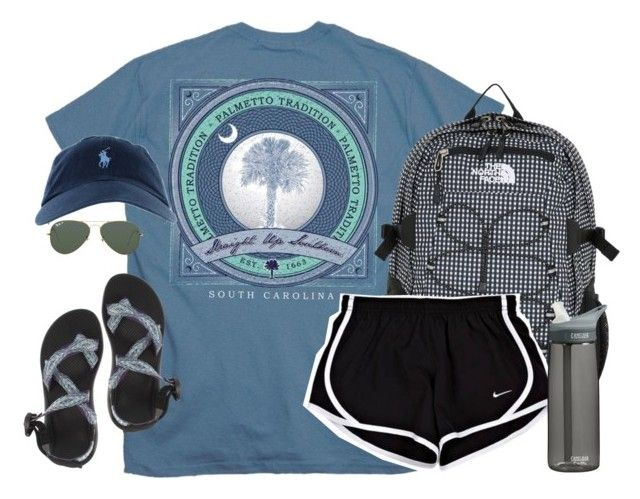 """one of the hardest things you will ever have to do is grieve the loss of somebody who is still alive."" by kaley-ii ❤ liked on Polyvore featuring The North Face, Chaco, CamelBak, Ray-Ban, women's clothing, women, female, woman, misses and juniors"