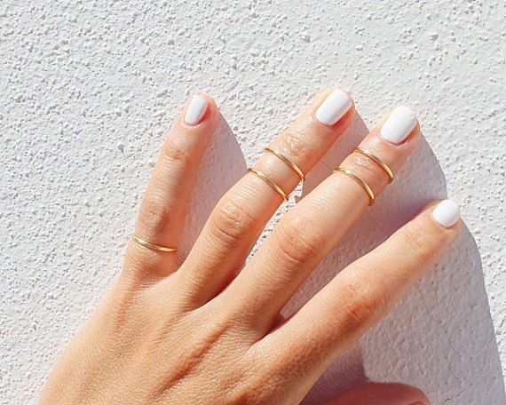 5 Gold Knuckle Rings  Gold Ring Set   Gold Stacking by TinyBox12