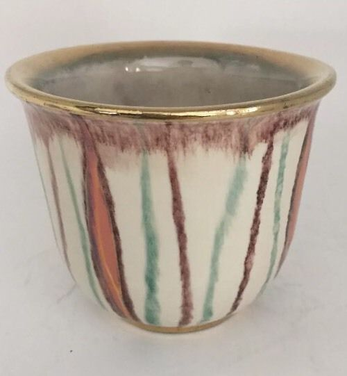 West German Pottery Bay WGP Mini Planter Gold Trimmed Marked 151/10  | eBay