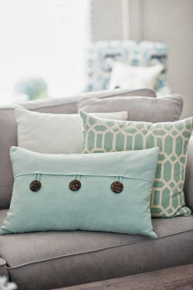 Decorative Pillows | Interior Design | Home inspirations | Neutrals | Light Greens | Soft Blues |  Residential Real Estate | Usaj Realty