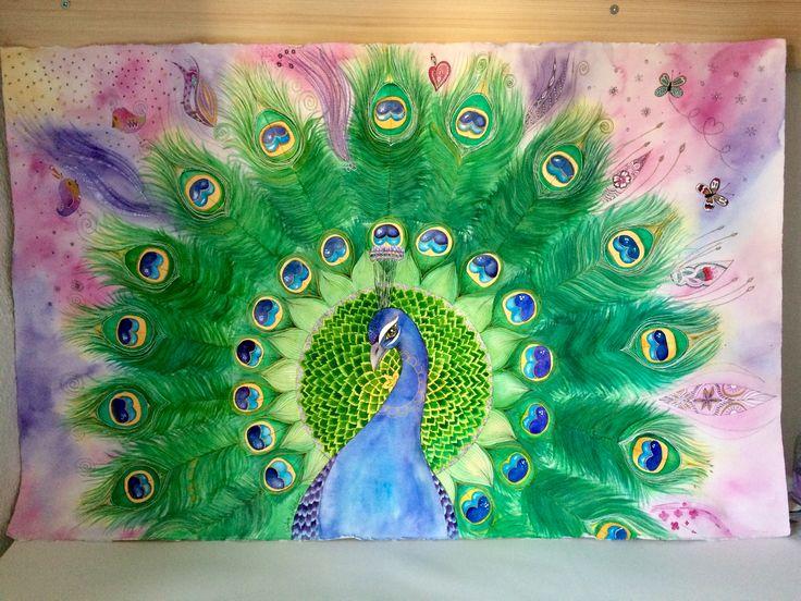 The Peacock 💙 Tavuskuşu... Design by Şìra Mercan  #mandala_sharing #mandalamagic #mandalamaze #mandalas #mandala #mandalaart #mandalazen #doodle #siramercan #watercolor #watercolourpainting #art #arttime #arttherapy #zen #peacock #pattern #peasley #instagood #instaartist #doodleartist #pattiska #etsy #artgallery #artstagram #artwork #artist