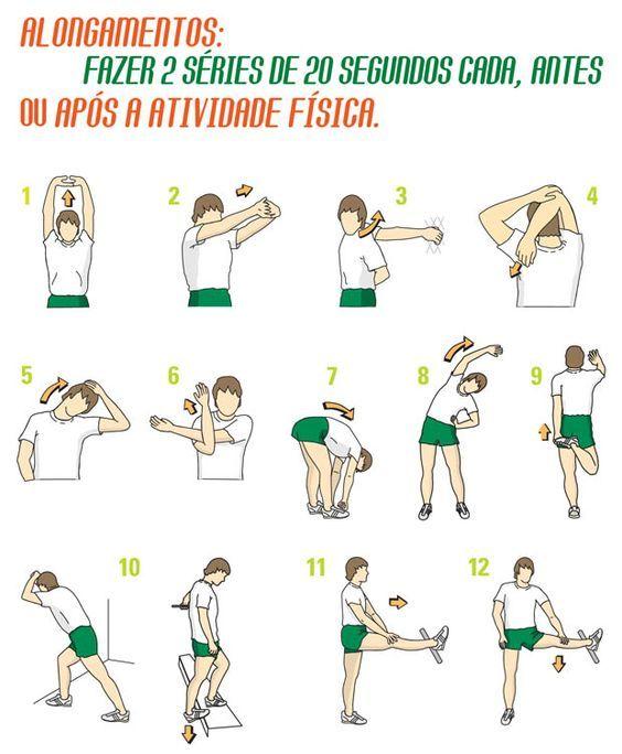 Instruções de alongamentos