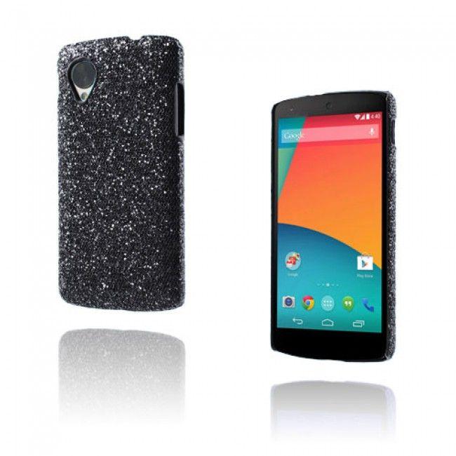 Glitter (Musta) Google Nexus 5 Suojakuori - http://lux-case.fi/google-nexus-5-suojakuoret.html