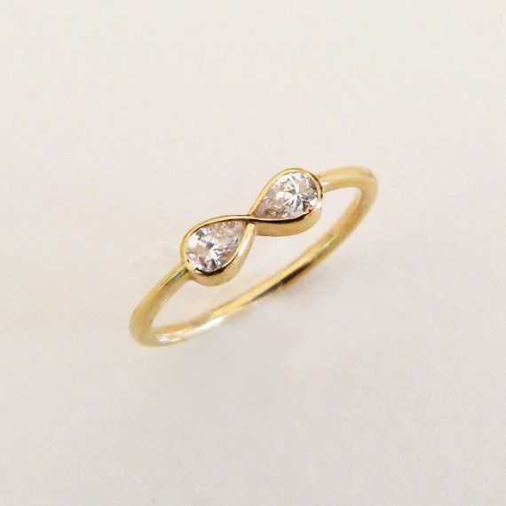 Diamond Infinity Ring  Engagement Ring  18k Solid Gold by artemer, $1200.00