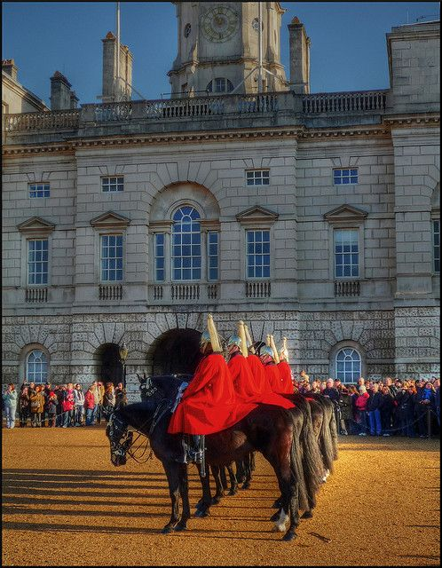 Horse Guard's Parade, London, Chuy and I got to see the Horse Guard Parade, it was beautiful. I love England, hope to go again someday.