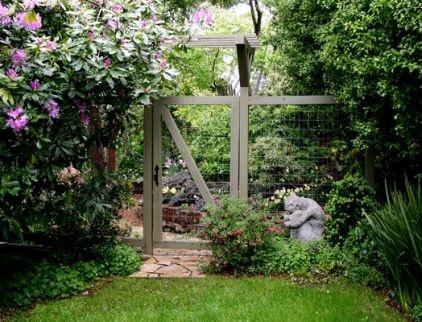 Deer fence, garden