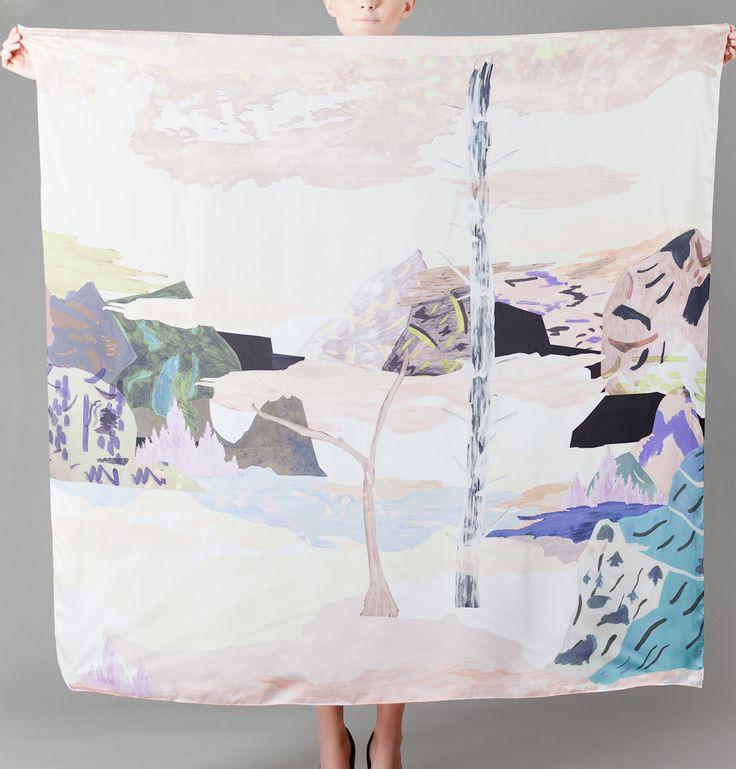 Milleneufcentquatrevingtquatre Multicolor Paysage Silk Square on sale at LException