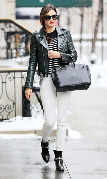 Look Jeans Branco: Jaqueta de Couro