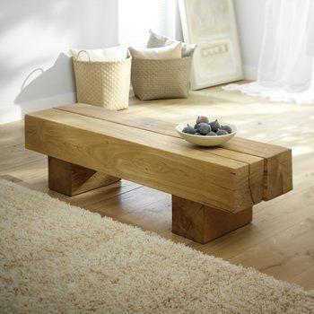 Simple railway sleeper table.