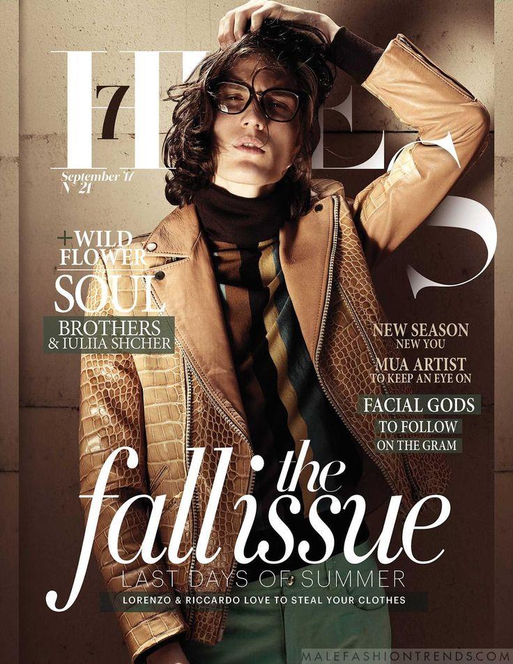 Male Fashion Trends: Lorenzo Cartacci y Riccardo Pedini en looks de los setenta para 7 Hues Magazine