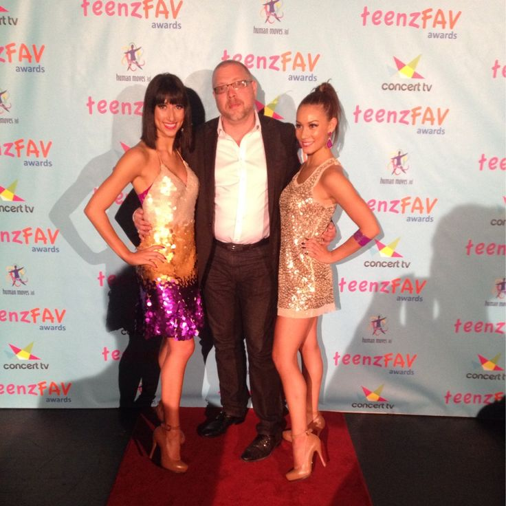 With HighDiamond back stage at Teen Faves Awards