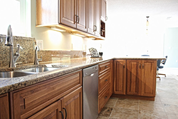Advantage by bridgewood hickory fruit wood finish 4 in for Advantage kitchen cabinets