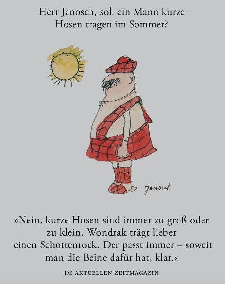 Herr #Janosch, soll ein Mann kurze Hosen tragen im Sommer?