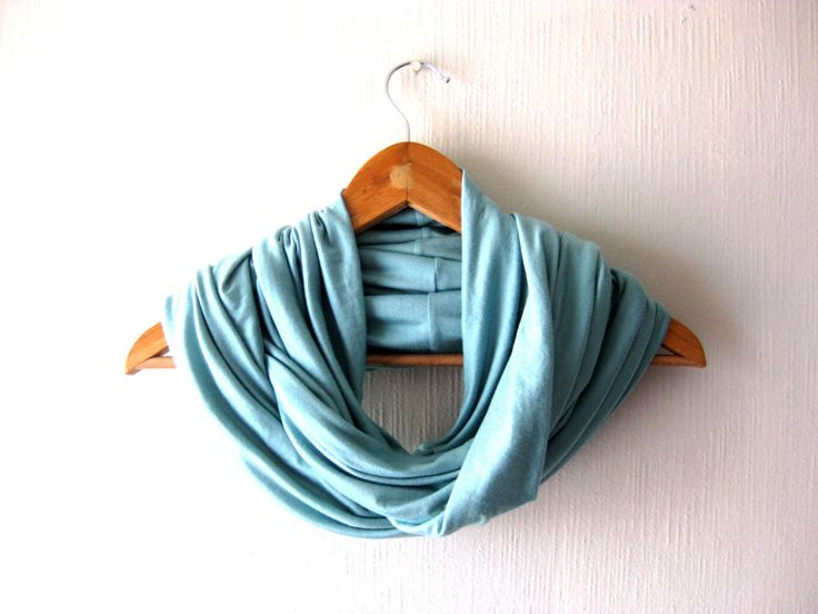 Light blue Infinity Scarf, Jersey Circle Scarf, Neckwarmer, Eternity Scarf, Infinity Scarves for men, Infinity Scarves for Women, Unisex by aylla on Etsy https://www.etsy.com/listing/221423200/light-blue-infinity-scarf-jersey-circle
