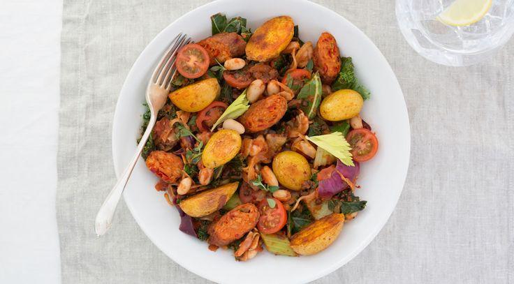 Linda McCartney Foods - Warm Catalan Salad with Vegetarian Chorizo