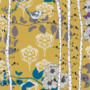 Thinking about something like this for our dining room curtains    #fabrics #textiles #interiordesign Valori Wells - Novella Sateen - Finnelopy in Curry