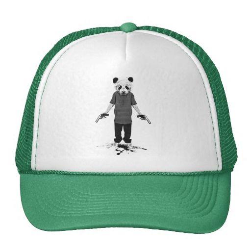 Killer panda trucker hat