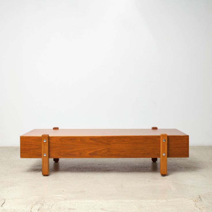 A Rare Vintage Coffee Table By Master Sergio Rodrigues.Caviúna Wood Veneer,  Solid Legs