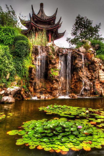 Garden behind Pan Men in Suzhou, China.