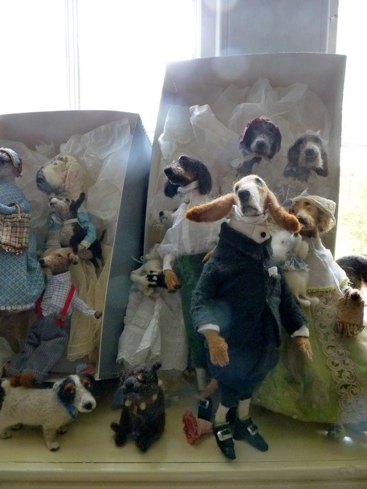 Felt dogs by Domenica More Gordon