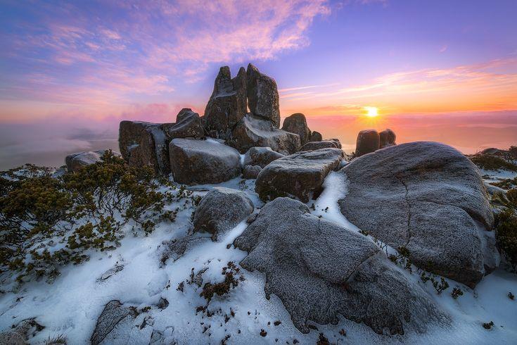 kunanyi Sunrise - kunanyi / Mt Wellington - Tasmania - Wilkography
