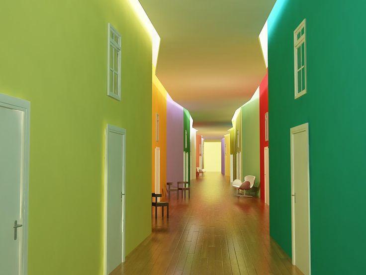 Remodelación en residencia de ancianos Madrid. Idea: el pueblo