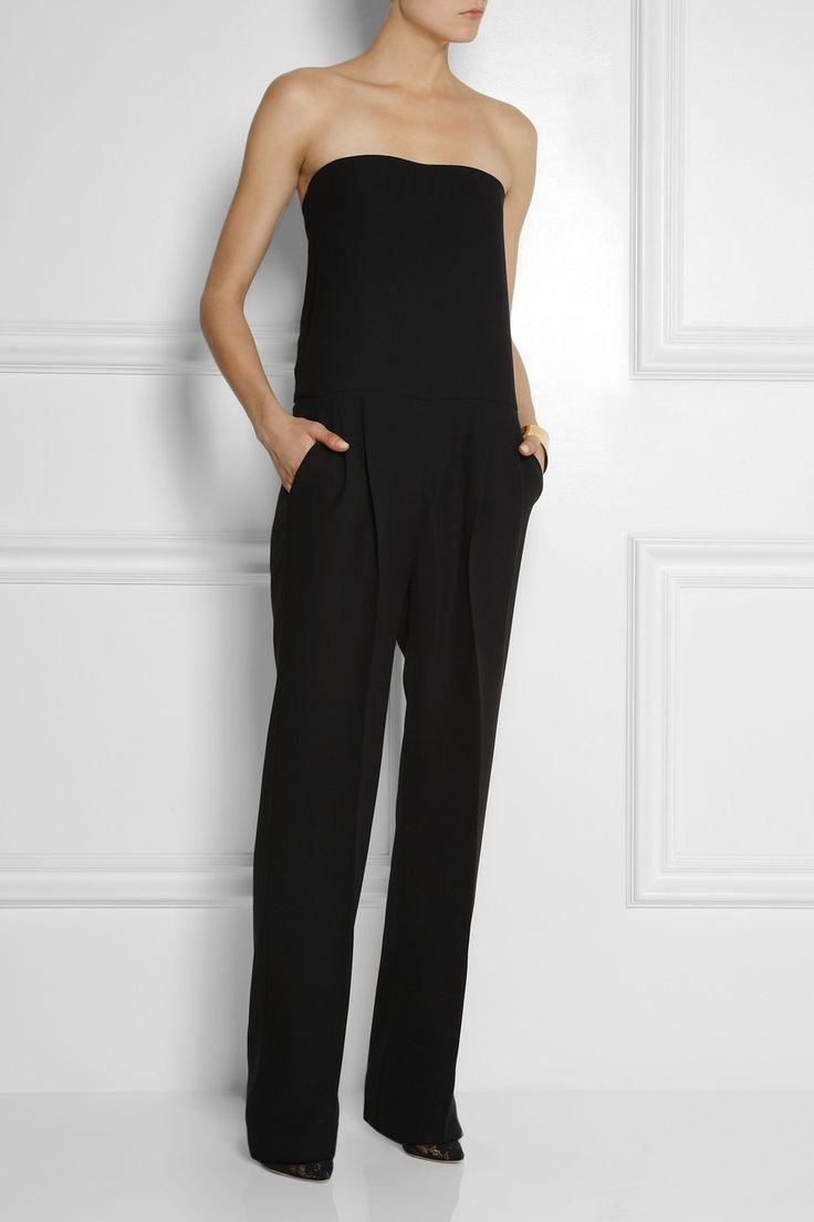 Gucci|Strapless silk-cady jumpsuit|NET-A-PORTER.COM