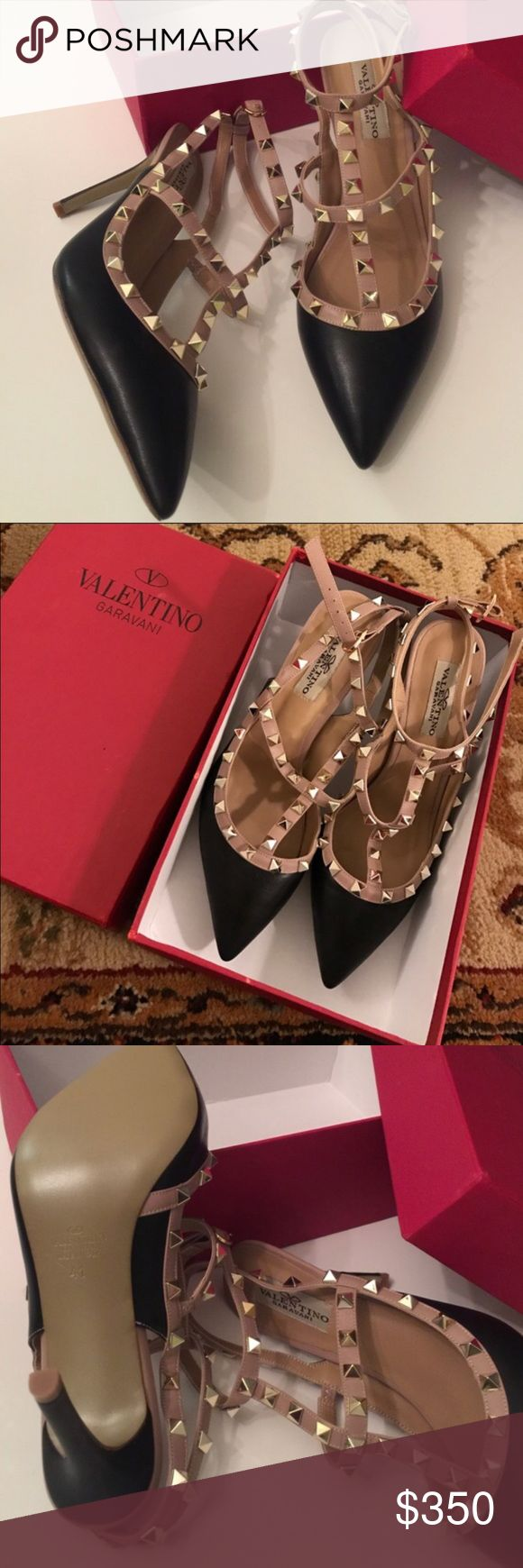 Valentino Rock stud pumps black 41/ 9 Valentino rock stud pumps black 41 / US 9 in box. These are stunning in person & excellent quality. The price is reflective of the authenticity. Valentino Shoes Heels