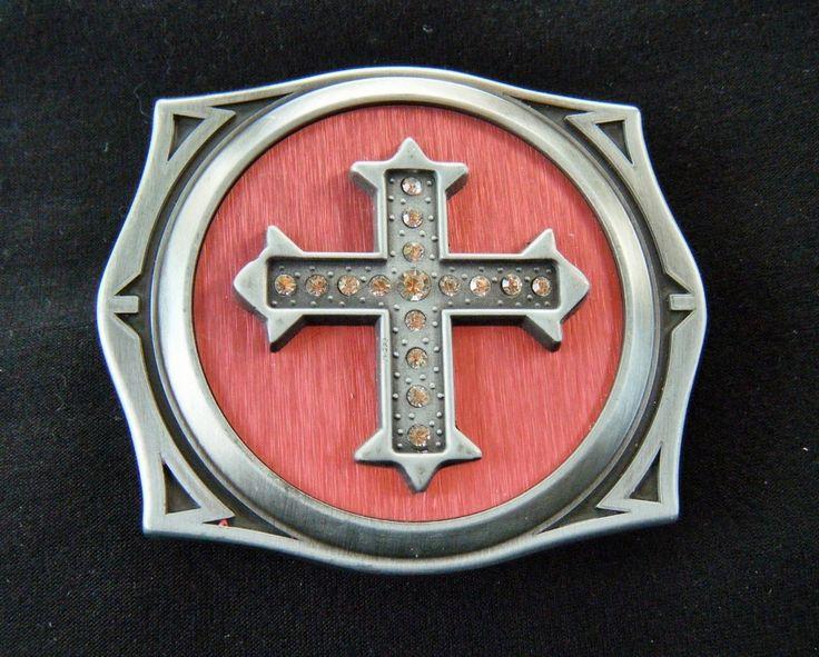 Cool Rhinestone Gothic Cross Flint Lighter Belt Buckles
