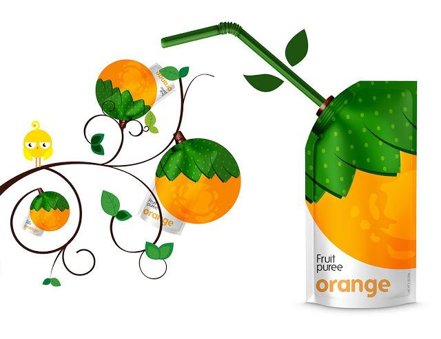 Natural Fruit Puree (Concept) on Packaging of the World - Creative Package Design Gallery