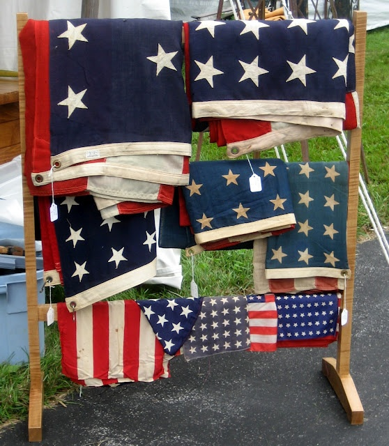 52 FLEA: Bouckville 2012 - Pictorial Review Collection of American flags