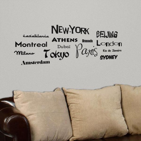 17 best images about lettrage lettering on pinterest for Appliqu mural autocollant