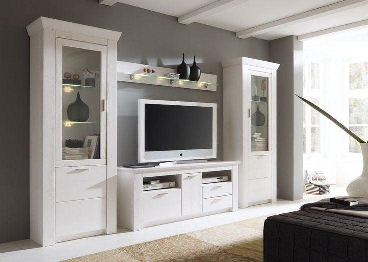 Wohnzimmermöbel landhausstil holz  104 besten Wohnwände Bilder auf Pinterest | Entertainment center ...