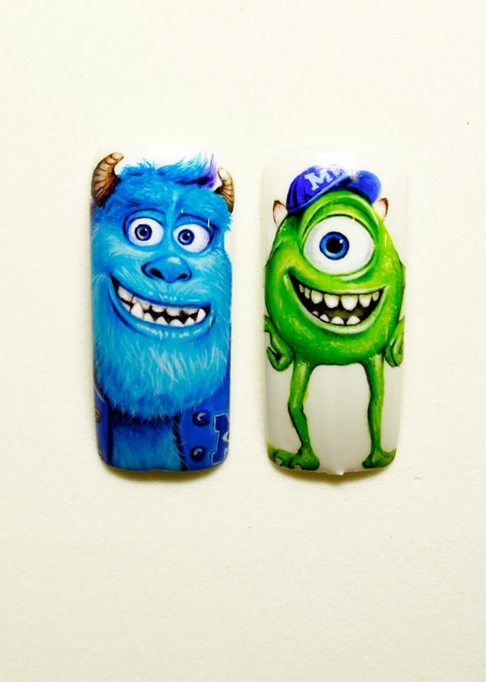 monsters university by Pisut Masanong #nail #nails #nailsart