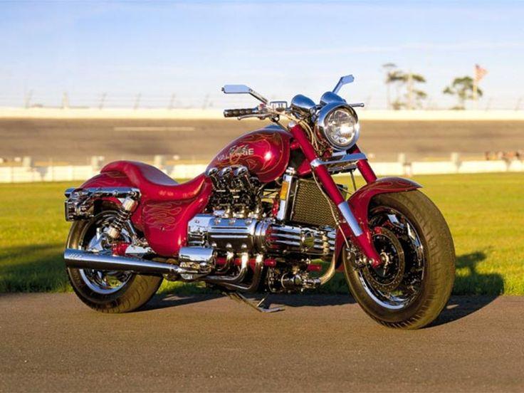 Four custom Honda Valkyrie motorcycles. By Andy Cherney.