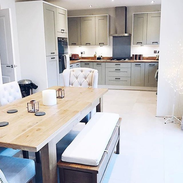 #repost @kayleighjcouture #welovenew A beautiful kitchen with plenty of interior inspiration, from a beautiful new build by @redrowhomes #decor #interior #interordesign #interiorinspiration #homedesign #homestyle #homeinspiration #design #kitchen #photo