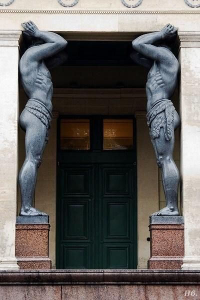 hadrian6: Atlantes caryatids. Hermitage Museum. St. Petersburg. Russia.