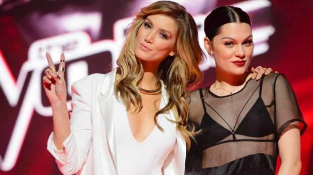 Winning: <i>The Voice Australia</i> judges Delta Goodrem and Jessie J.