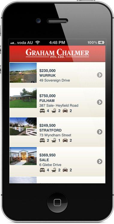 chalmer.com.au - mobile website - property results.