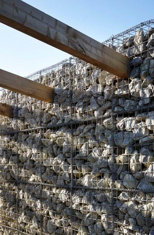 gabion wall beam insert detail http://www.gabion1.com