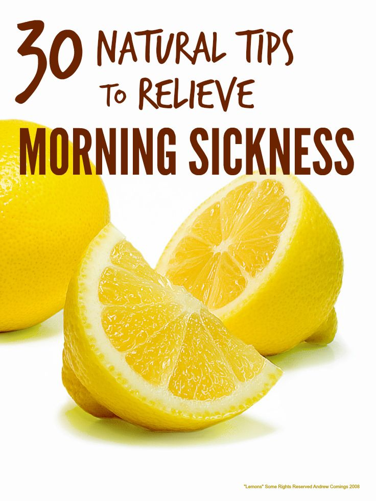 Loads of great natural tips and tricks to relieve morning sickness in pregnancy ...