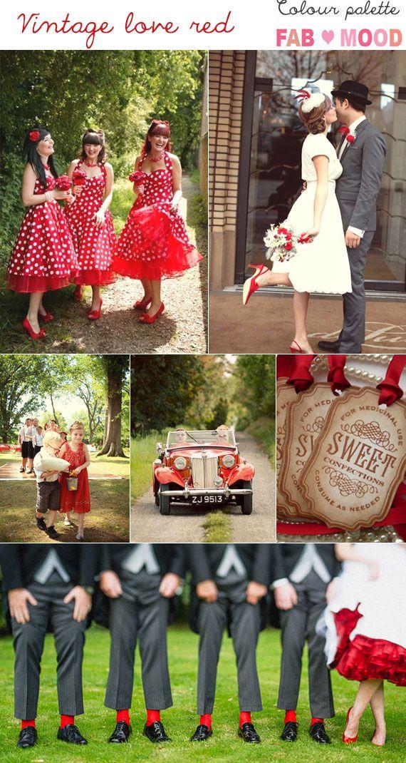 Vintage Wedding {LOVE} Red Wedding Theme | http://www.fabmood.com/vintage-wedding-love-red-wedding-theme/