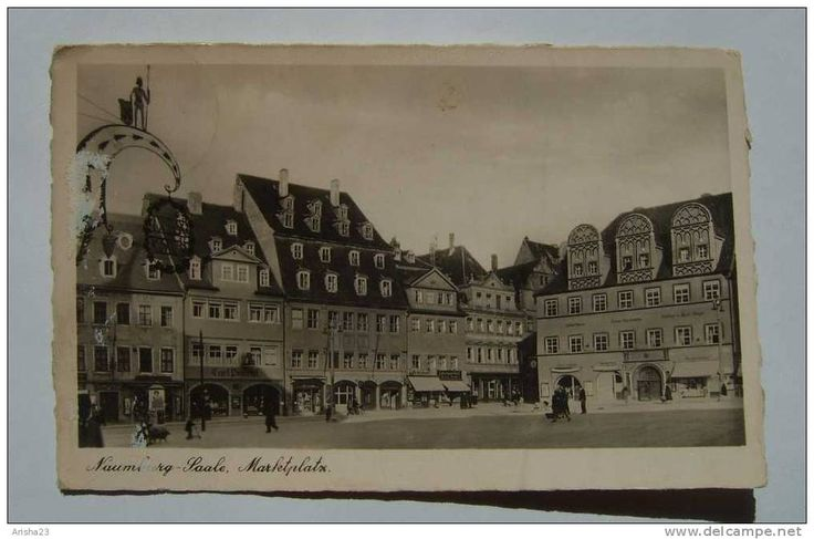 Germany, Naumberg - Saale - marketplats market - 1942 - photo postcard - Trinks & Co., Leipzig Nr. 6