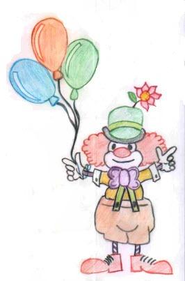 clown in colour
