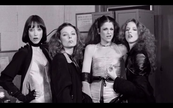 The original babes of SNL. Guest Shelley Duvall with Jane Curtin, Gilda Radner, and Laraine Newman via Got a Girl Crush
