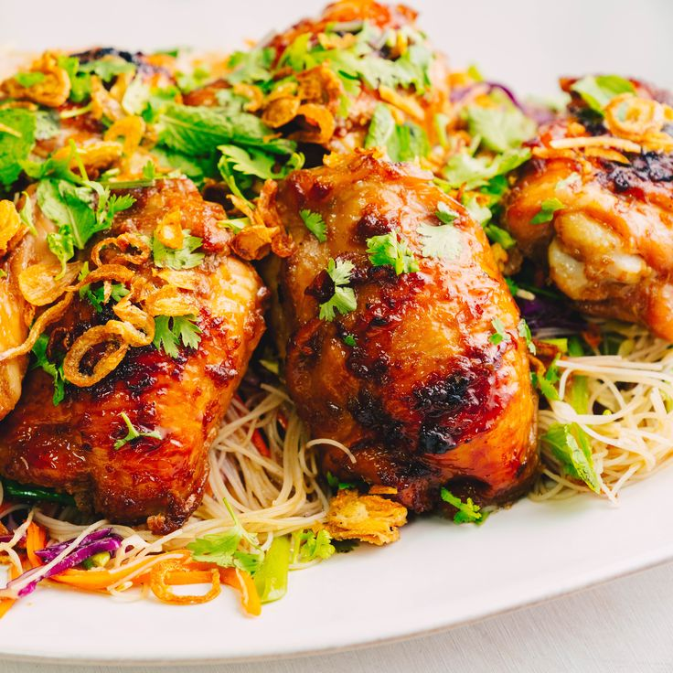Sticky Glazed Chicken & Noodle Salad