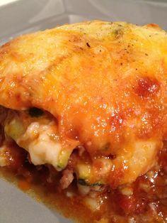 Gratin de courgettes viande hachée comme des lasagnes