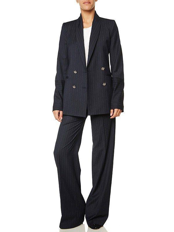 Ριγέ γυναικείο κοστούμι